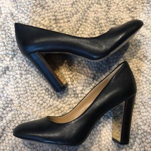 Banana Republic black leather heels